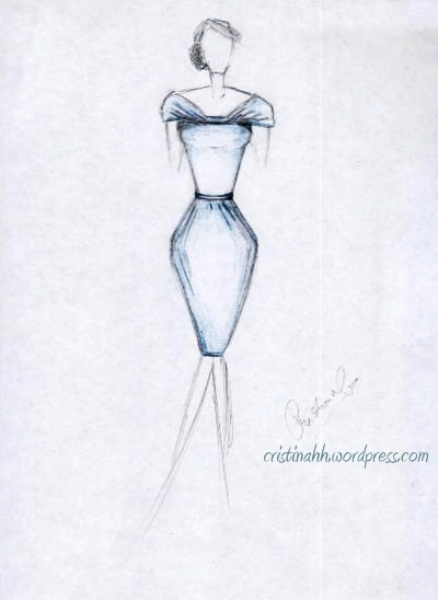Dress-sketch-fashion